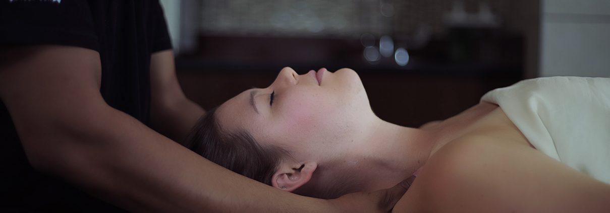 Woman having a massage.