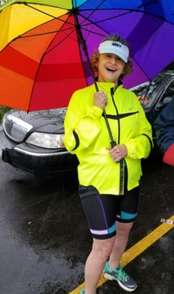 Maria's first triathlon at 70