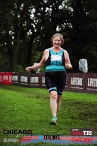 Finishing my first triathlon at 70 years young