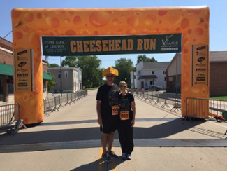 Running a 5K with my husband with no pain from fibromyalgia due to exercise