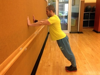 Wall push-up 1
