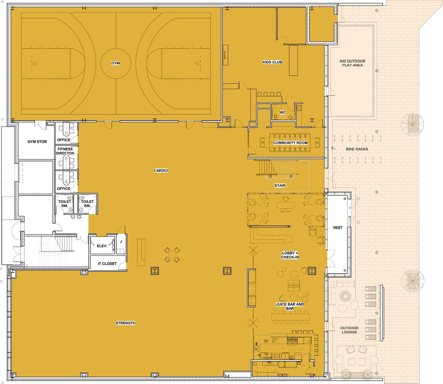 FFC Elmhurst Floorplan - 1st Floor