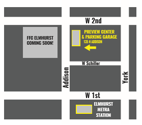 FFC Elmhurst Presale Center Map