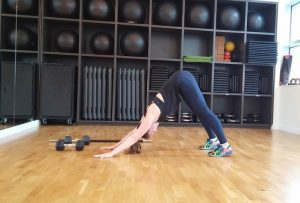 Downward dog lower body workout