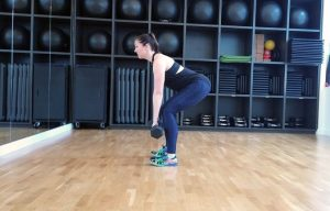 Dumbbell deadlift lower body workout