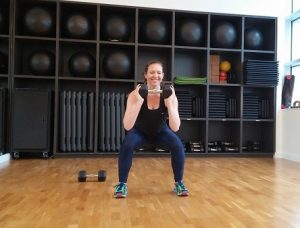 Lateral squats lower body workout