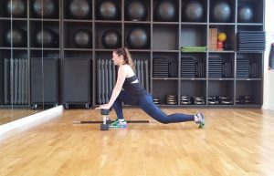 Low lunges lower body workout
