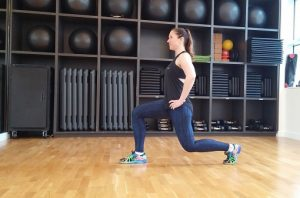 Lunge hops lower body workout
