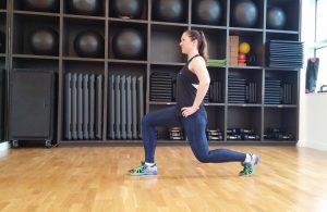 Jumping lunge lower body workout