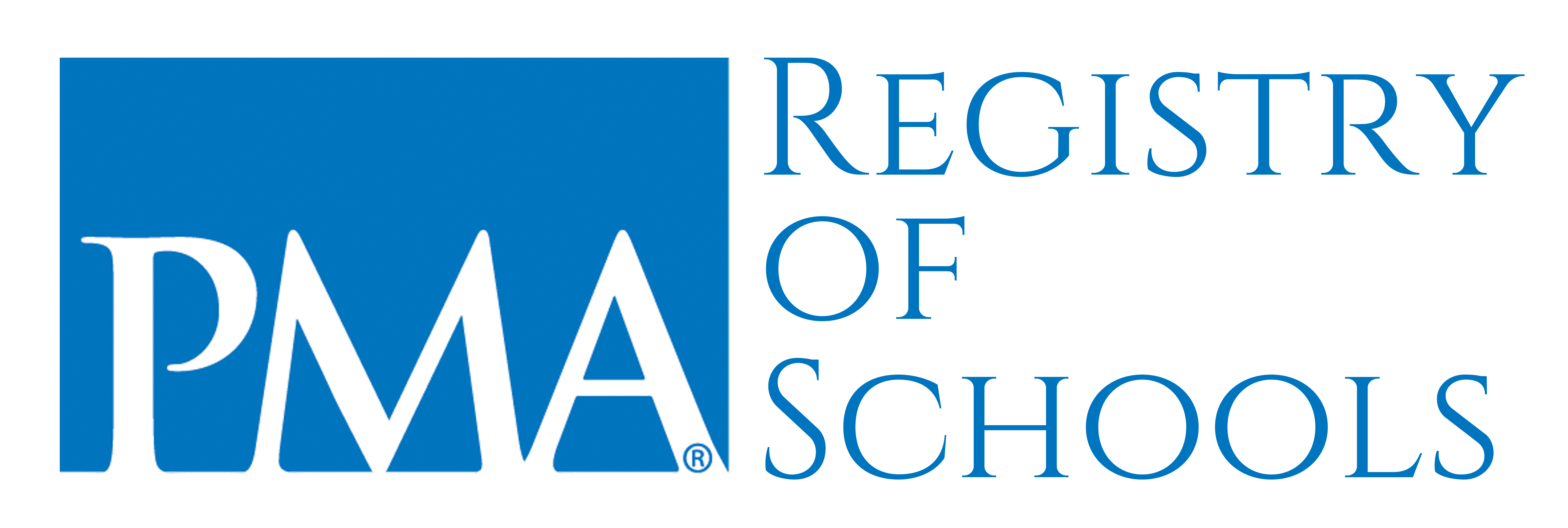 PMA Registry of Schools Logo