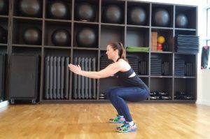 Jumping squats lower body workout