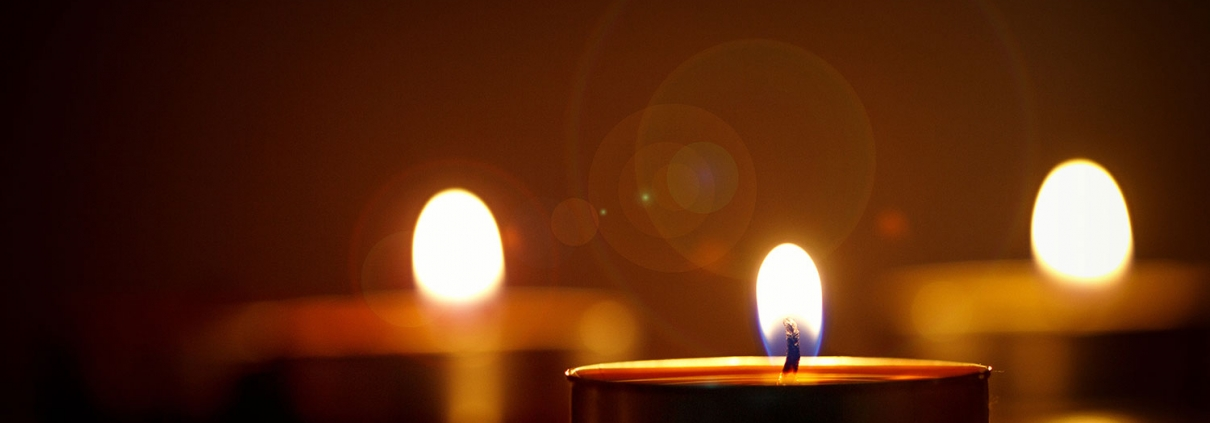 Close up of a candle flame.