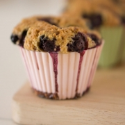 Celebrate National Oatmeal Muffin Day with blueberry oatmeal muffins.