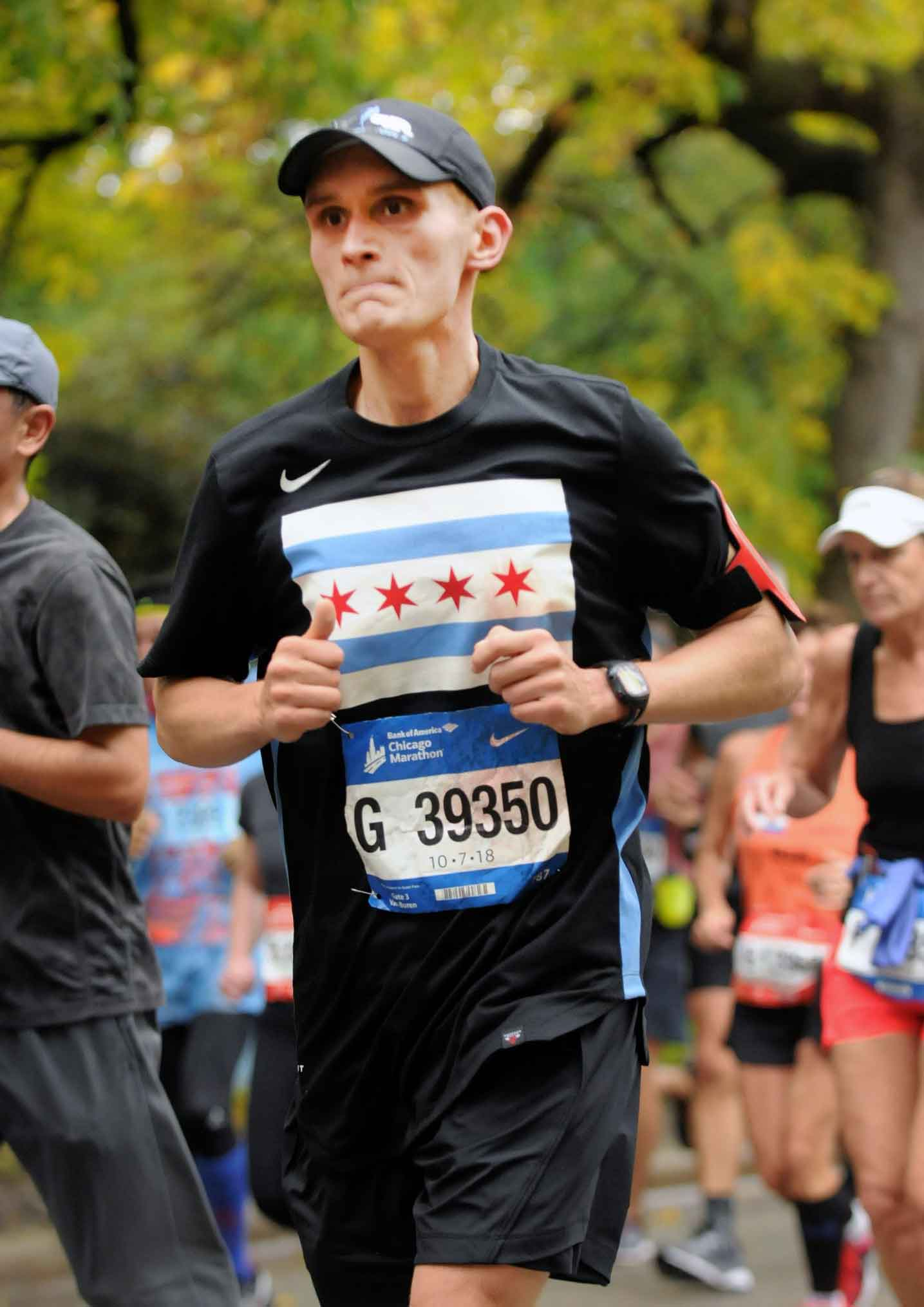 During the race - how FFC helped member John finish the Chicago Marathon