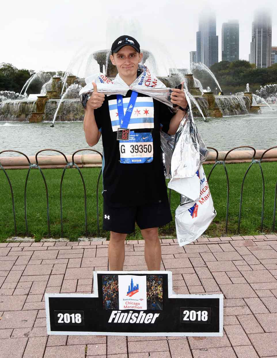 Finishing the Chicago Marathon - FFC Oak Park Member John