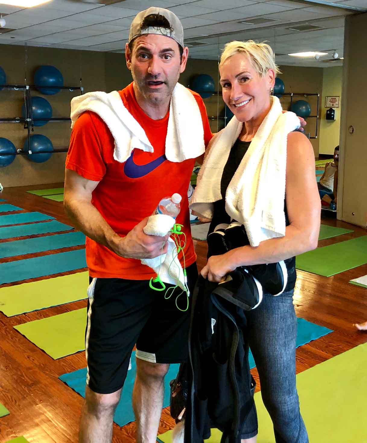 Pete McMurray and Lois at Formula 94 heated group exercise class FFC in Chicago