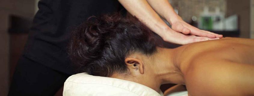 Woman getting a swedish massage