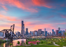 Chicago during spring.
