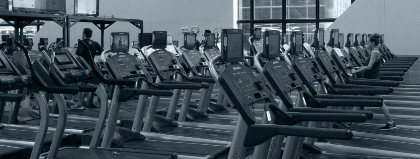 FFC Union Station members using treadmills.