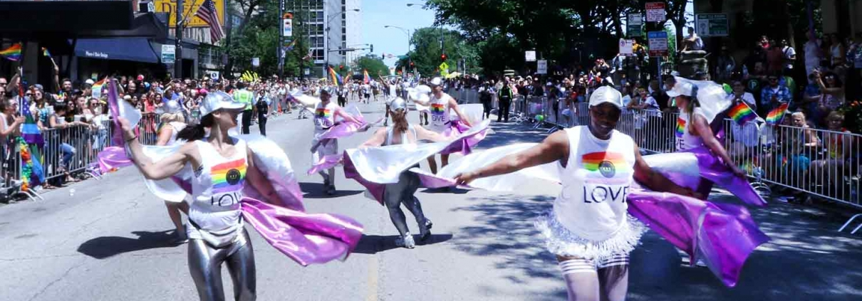 Pride parade dancers
