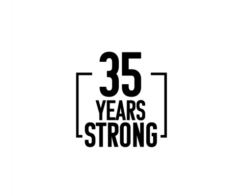 35 Years Strong Logo