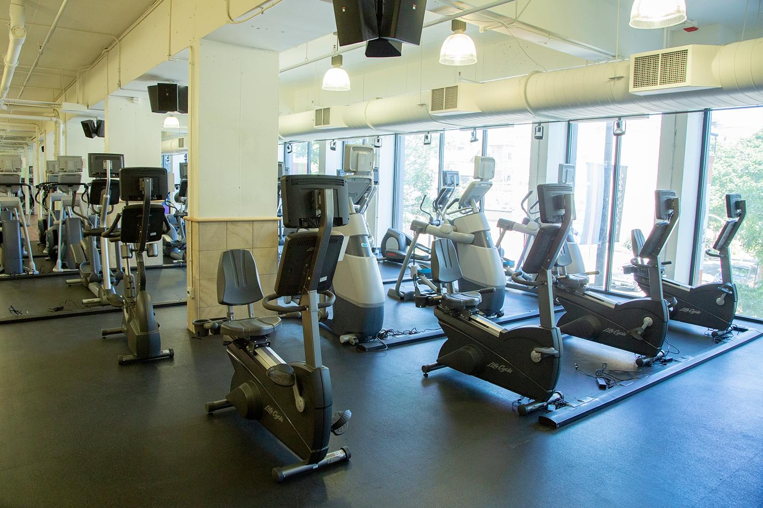 FFC Boystown Fitness Floor Seated Bikes