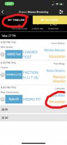 Screenshot of FFC+ Group Fitness Registration Step 4