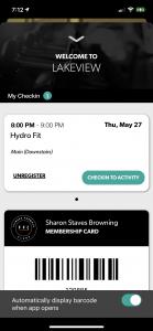 Screenshot of FFC+ Group Fitness Registration Step 5