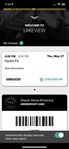 Screenshot of FFC+ Group Fitness Registration Step 6