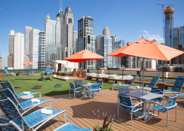 FFC Gold Coast Rooftop Turf and Sun Tanning Area