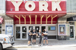 Photo of FFC Elmhurst employees outside the York Theater