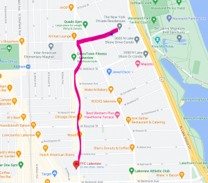 Map for Pride A thon