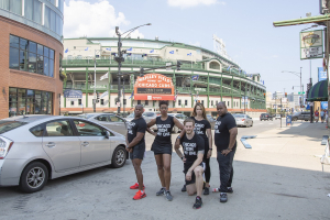 Group of FFC employees outside of Wrigley Field