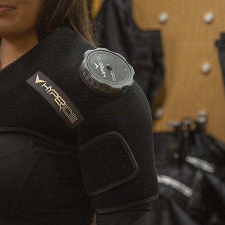 Photo of the Hyperice shoulder wrap