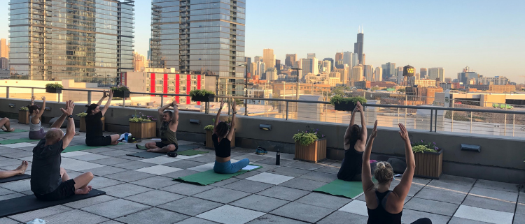 FFC Lincoln Park Rooftop Yoga Class